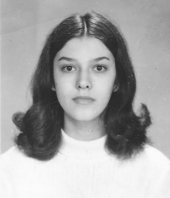 A teenage Georgiana Rosca