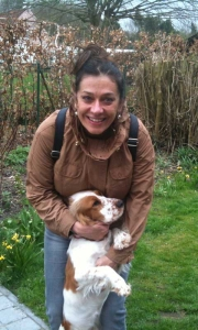 Georgiana Rosca with Lola the dog