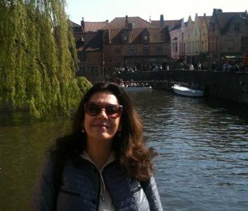 Georgiana Rosca in Bruges, Belgium