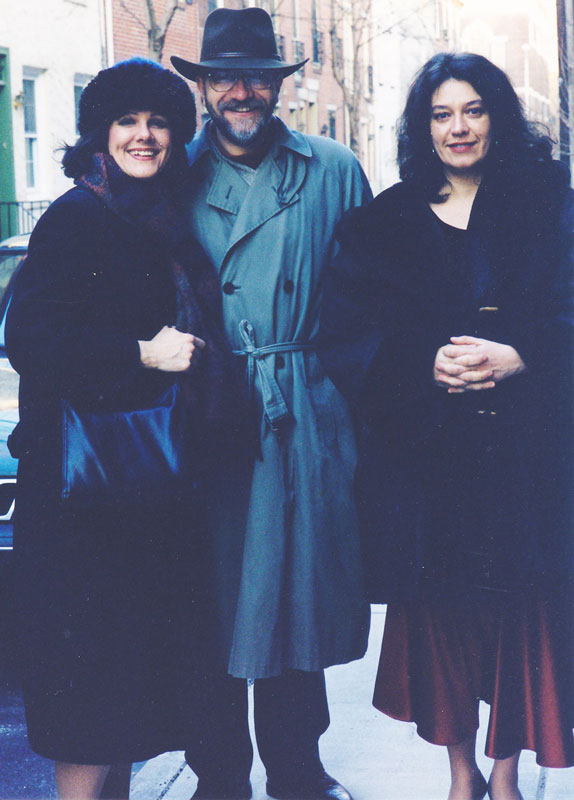 Georgiana Rosca with soprano Bonnie Hoke and her husband after a recital in Philadelphia