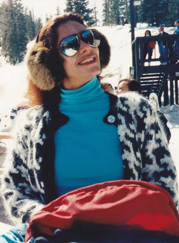 Georgiana Rosca during a skiing trip in Lake Tahoe