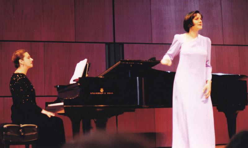 Georgiana Rosca providing piano collaboration for a vocalist at a recital